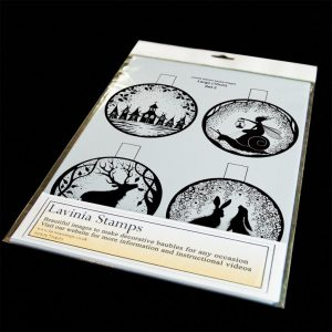 10cm Printed bauble inserts. Set 2