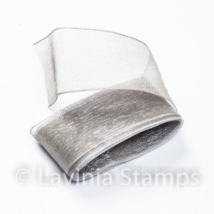 Silver-Grey Organza Ribbon