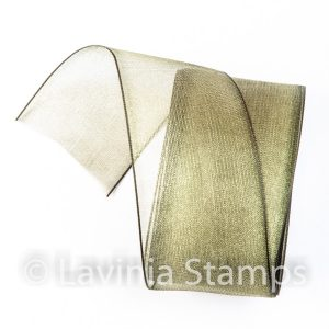 Olive Green Organza Ribbon
