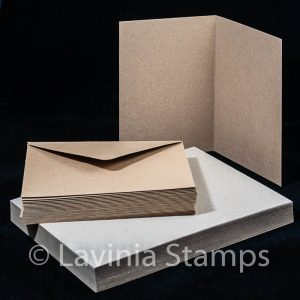 "5x7"" Brown Kraft Cards with envelopes (50)"