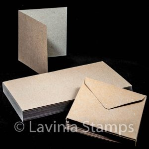 "5x5"" Brown Kraft Cards with envelopes (50)"