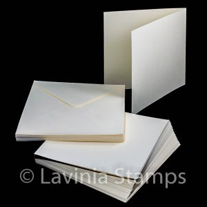 "7x7"" Blank Ivory Cards with envelopes (25)"