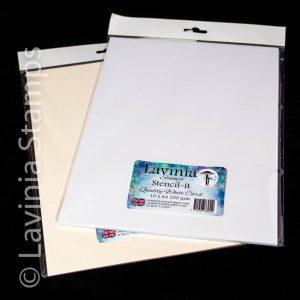Stencil It - A4 White Card