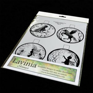 10cm Printed bauble inserts. Set 5