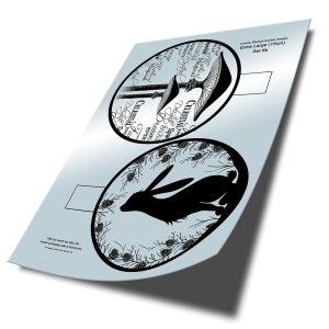 15cm Bauble Digital Insert Download Set 6b