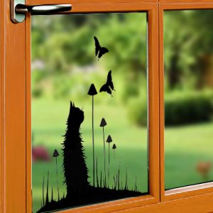 Window Cling - Chasing Butterflies