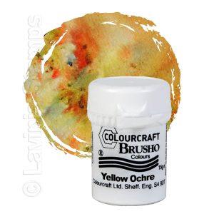 Brusho Inks - Yellow Ochre