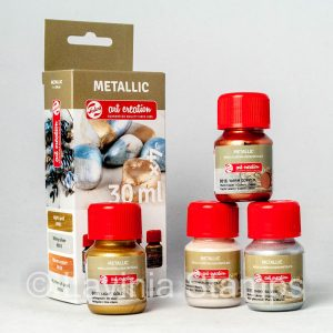 Metallic Paints Set 4 Basic Colours (30ml )