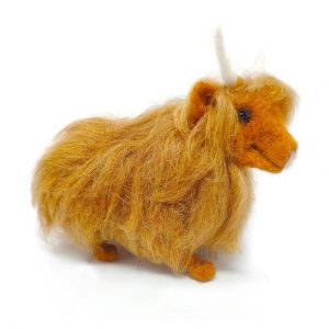 Highland Cow Needle Felting Kit