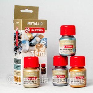 Metallic Paints Set of 4 Specialist Colours (30ml)