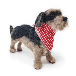 Miniature Wirehaired Dachshund Needle Felting Kit