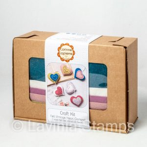 Felt Vintage Heart Garland Craft Kit