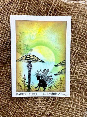 Karen Telfer - Oona oxide background
