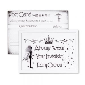 Postcard - Invisible Fairy Crown