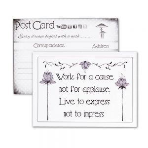 Postcard - Work for a Cause