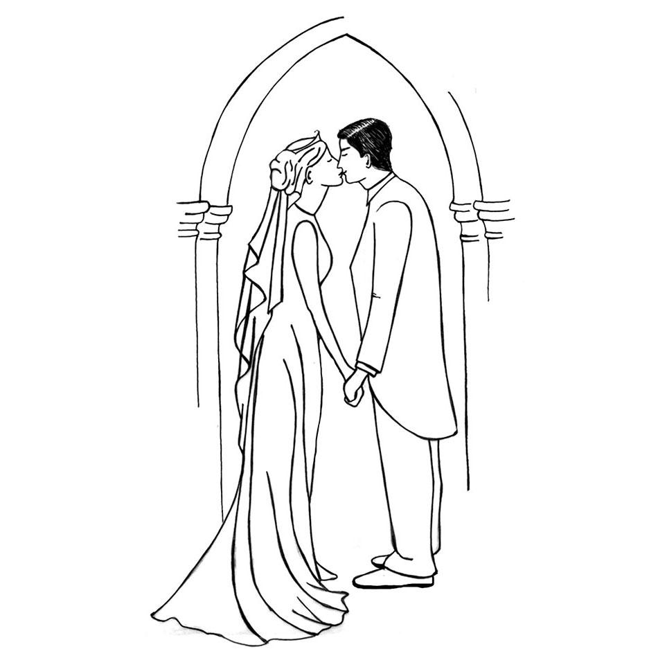 Line Drawing Wedding Couple : Bride groom digital lavinia stamps ltd