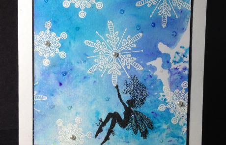 A Christmas fairy card