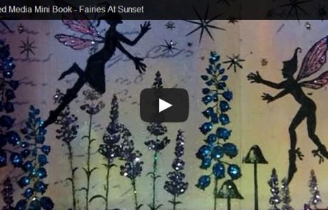 Fairies at Sunset – Mixed Media Book