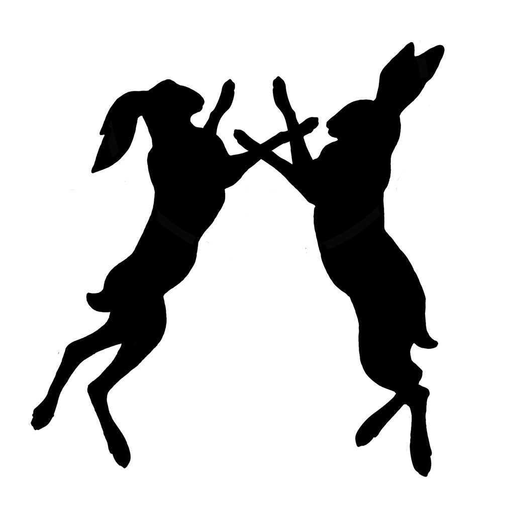 Boxing Hares on Pound Words
