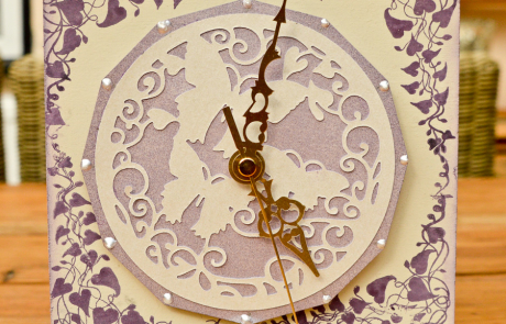 A lovely Clock Project using stamps and dies from our range